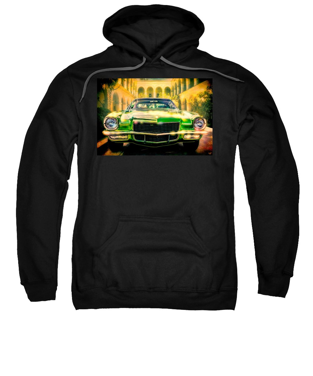 Automobile Sweatshirt featuring the photograph California 1970 Camaro by Chris Lord