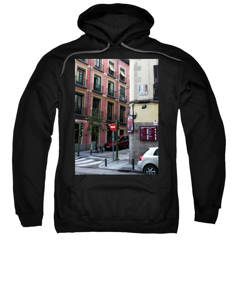 Madrid Sweatshirt featuring the photograph Calle De Vergara Madrid by Lorraine Devon Wilke