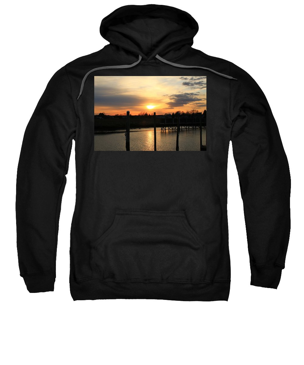Sunset Sweatshirt featuring the photograph Calm After The Storm by Catie Canetti