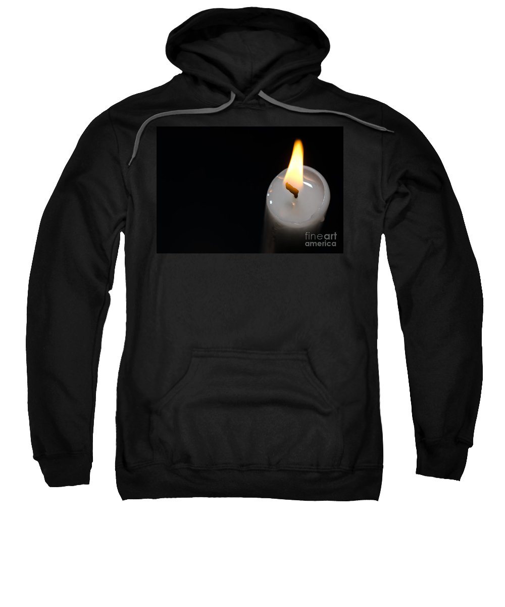 Candlelight Sweatshirt featuring the photograph Candlelight by Mats Silvan