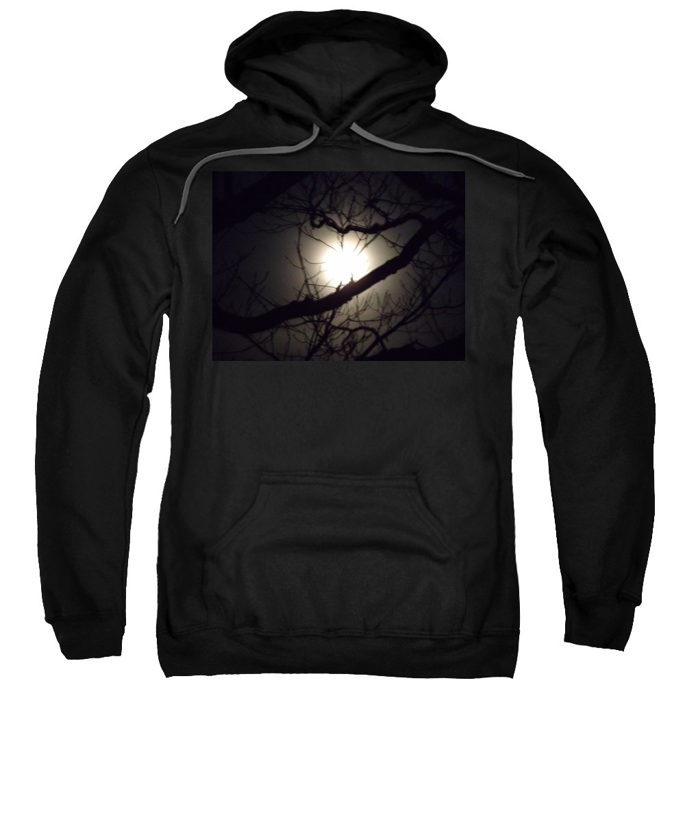 Moon Sweatshirt featuring the photograph Captured By Your Heart by Dennis Comins