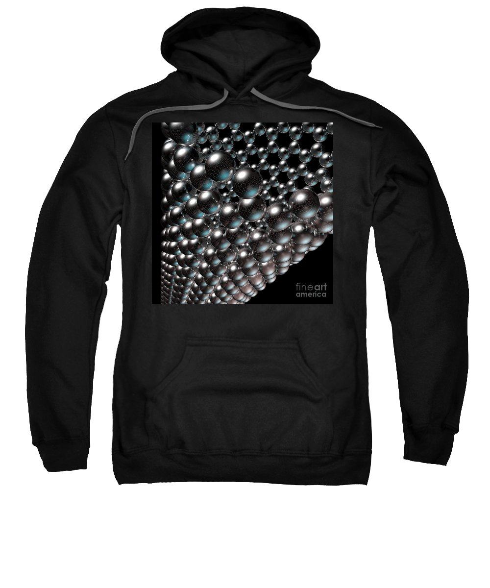 Allotrope Sweatshirt featuring the digital art Carbon Nanotube 8 by Russell Kightley