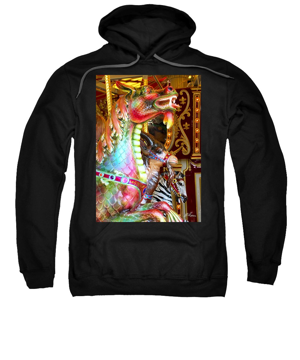 Carousel Sweatshirt featuring the photograph Carousel Dragon by Diana Haronis
