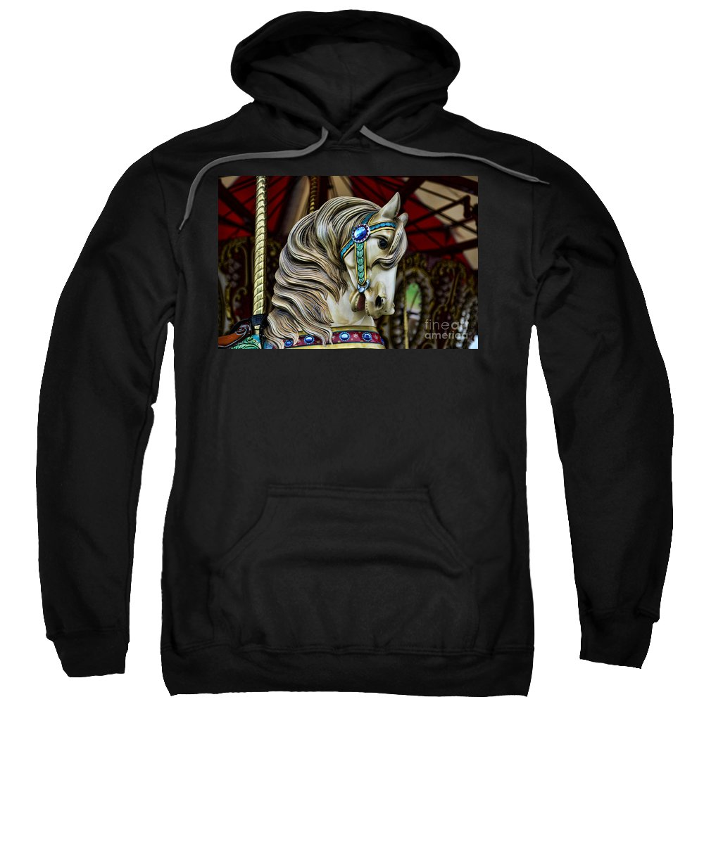 Carousel Sweatshirt featuring the photograph Carousel Horse 3 by Paul Ward