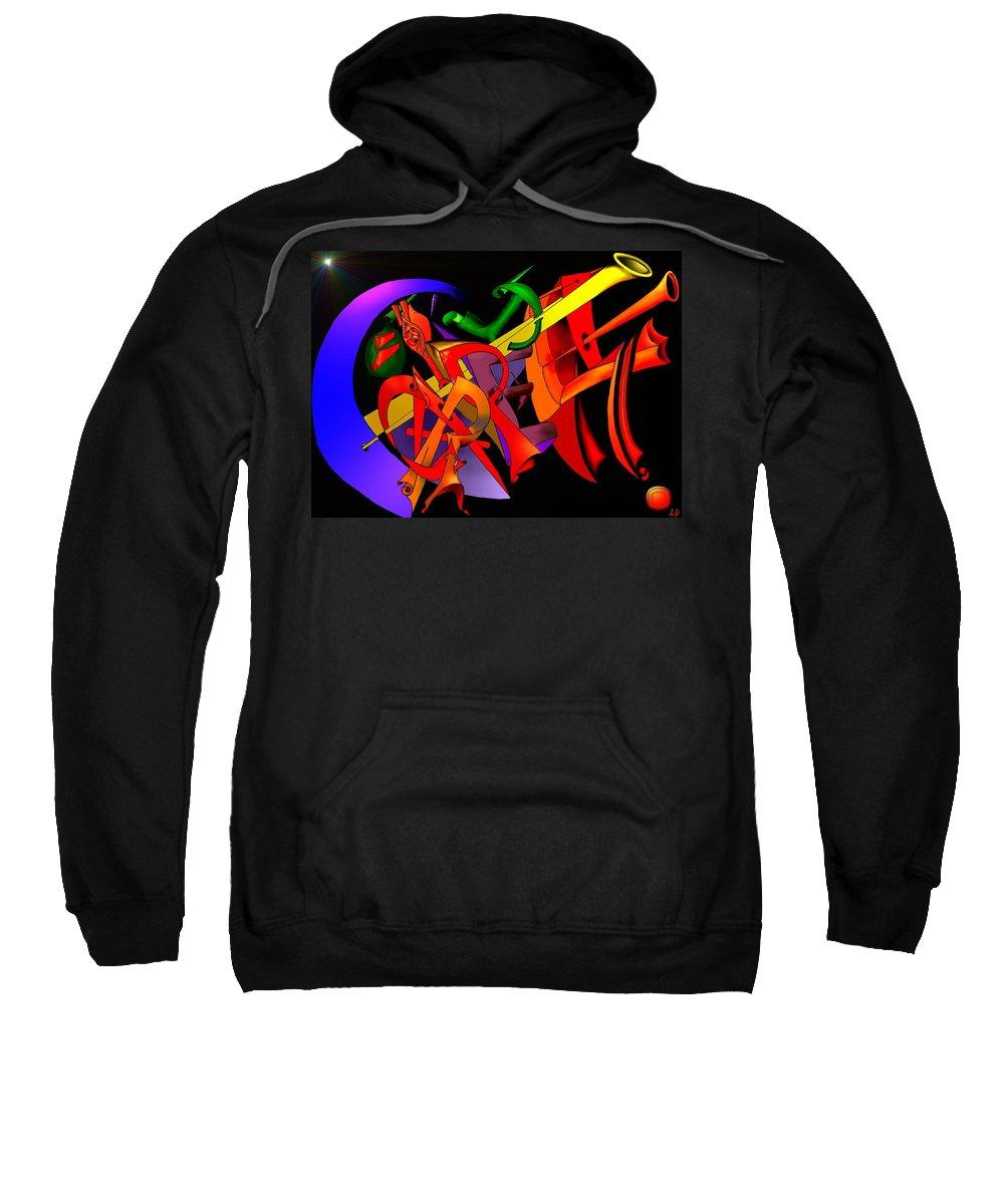 'carpe Diem' Sweatshirt featuring the digital art Carpe Diem IIi by Helmut Rottler