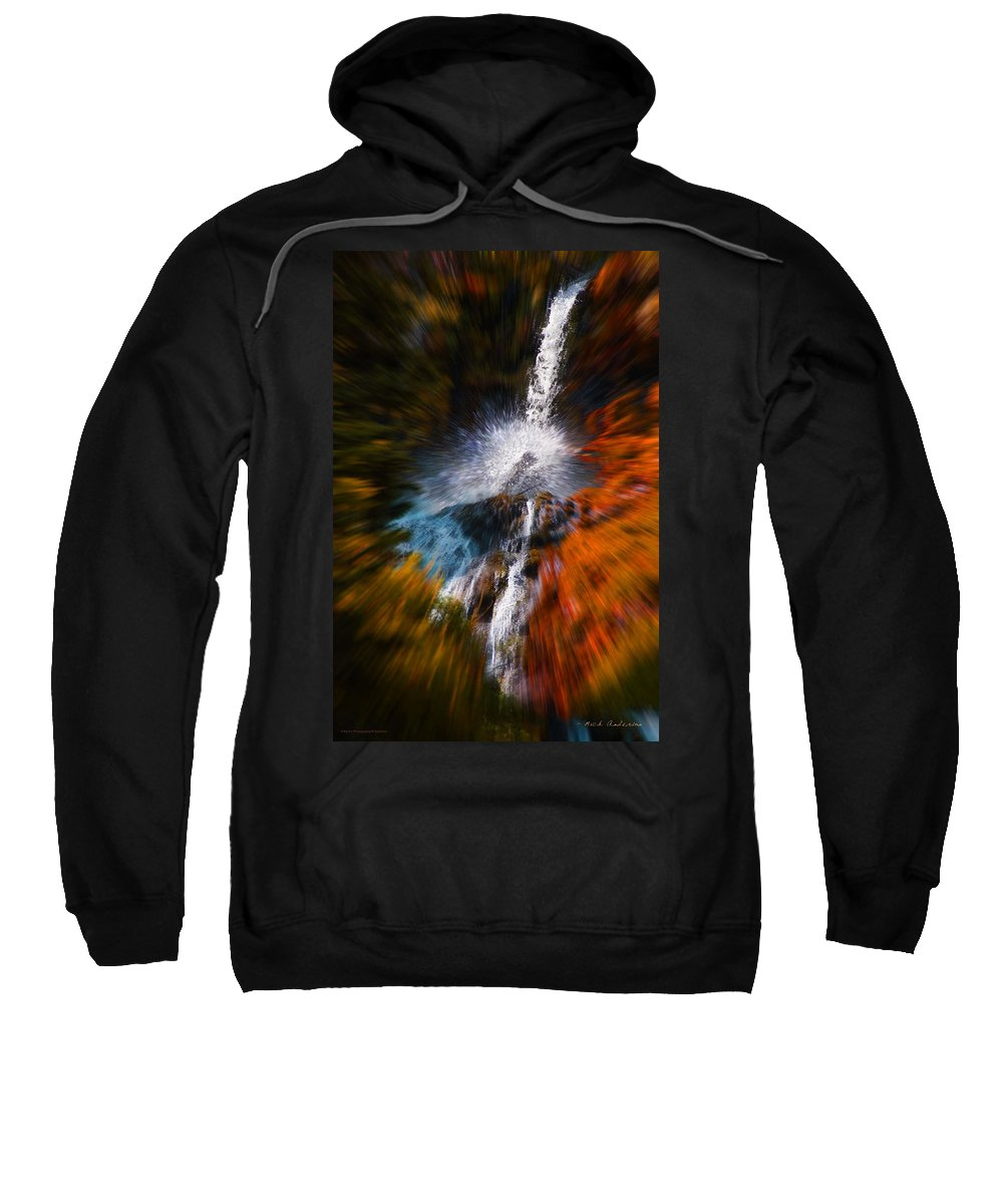 Color Sweatshirt featuring the photograph Cascade Waterfall by Mick Anderson