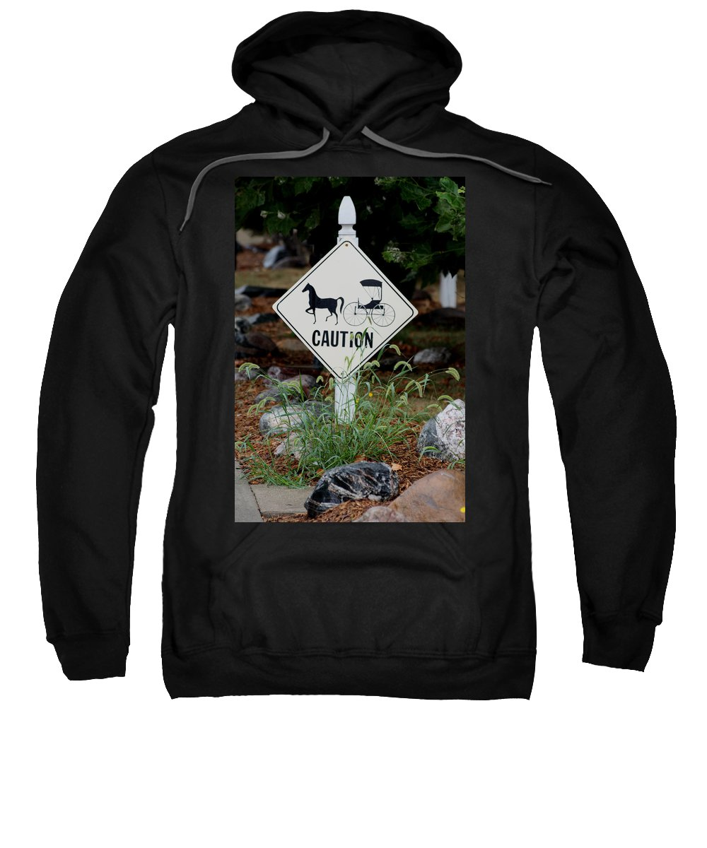 Landscape Sweatshirt featuring the photograph Caution Please by Dennis Pintoski
