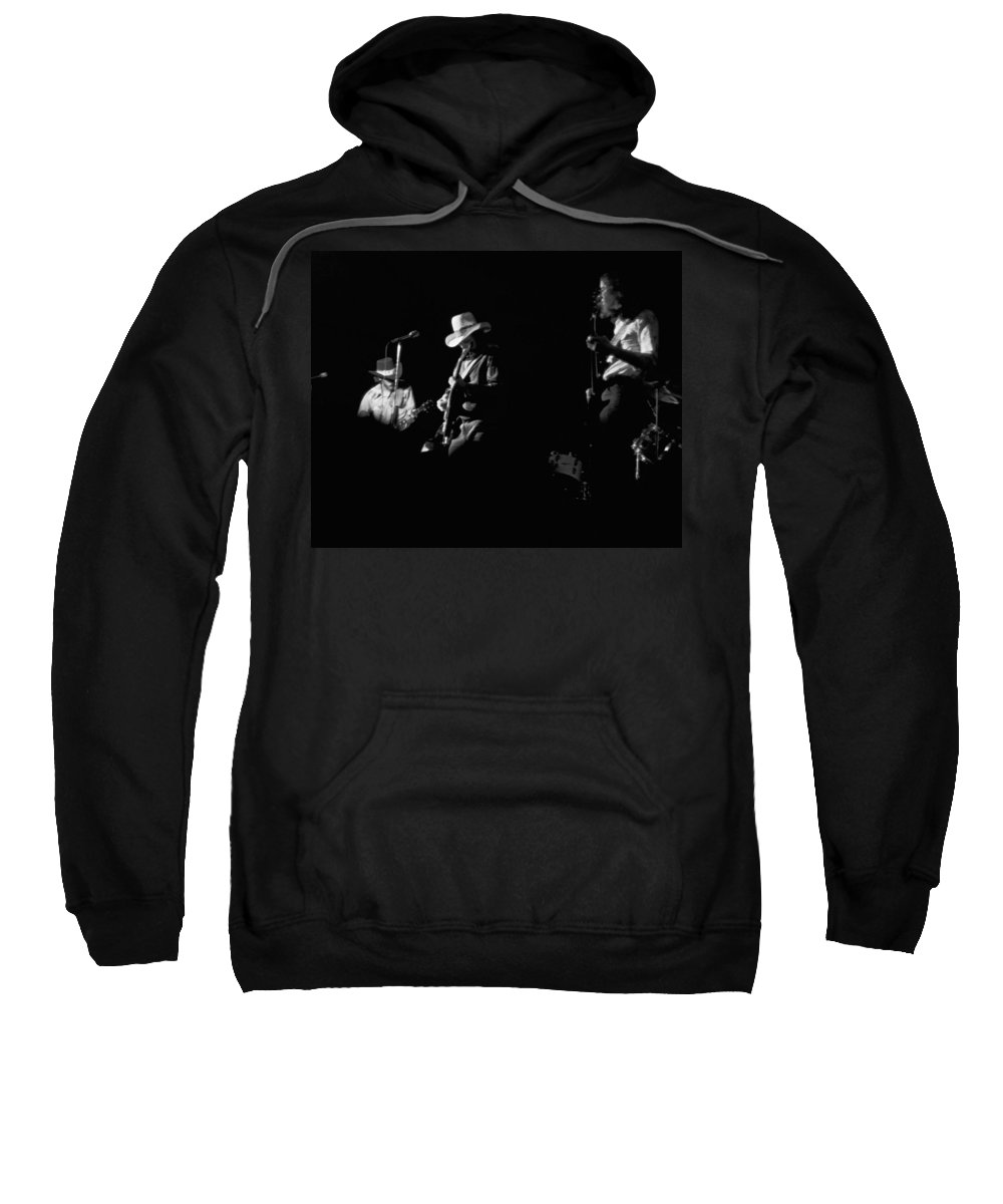 Charlie Daniels Band Sweatshirt featuring the photograph Cdb At Winterland 1975 by Ben Upham