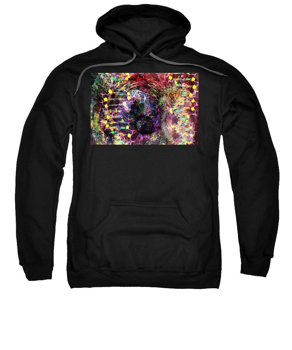 Abstract Sweatshirt featuring the digital art Cell Dreaming 4 by Russell Kightley