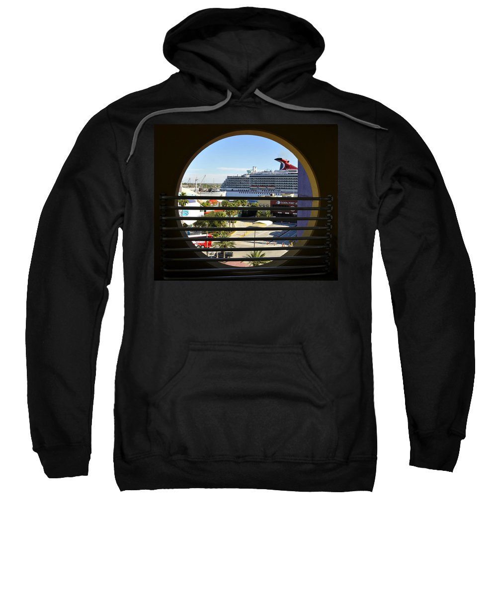 Fine Art Photography Sweatshirt featuring the photograph Channelside Tampa Art Deco by David Lee Thompson