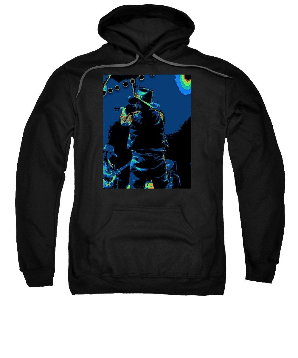 Charlie Daniels Sweatshirt featuring the photograph Winterland Cosmic Fiddler by Ben Upham