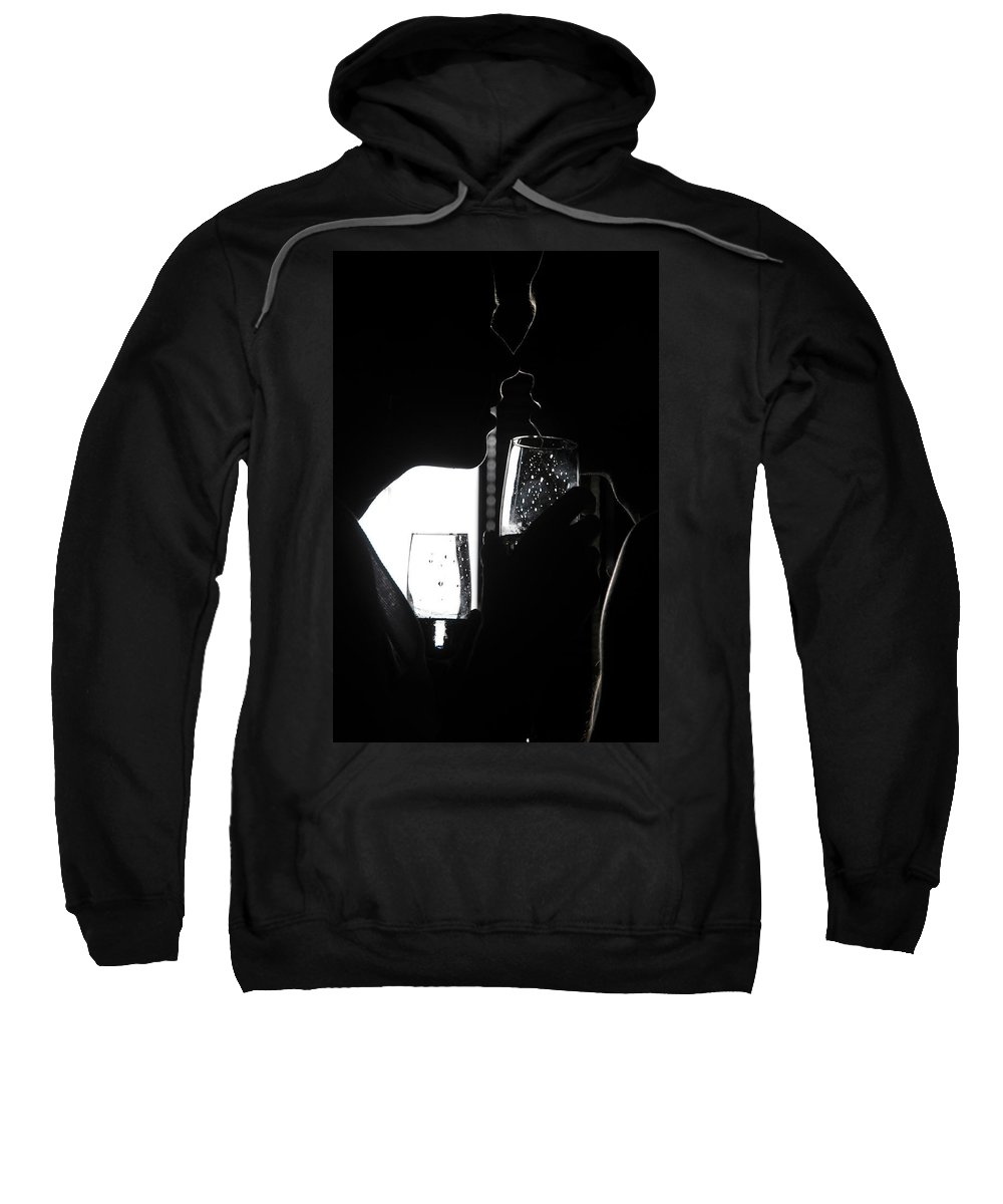 Love Sweatshirt featuring the photograph Cheers Before The Kiss by Jenny Rainbow