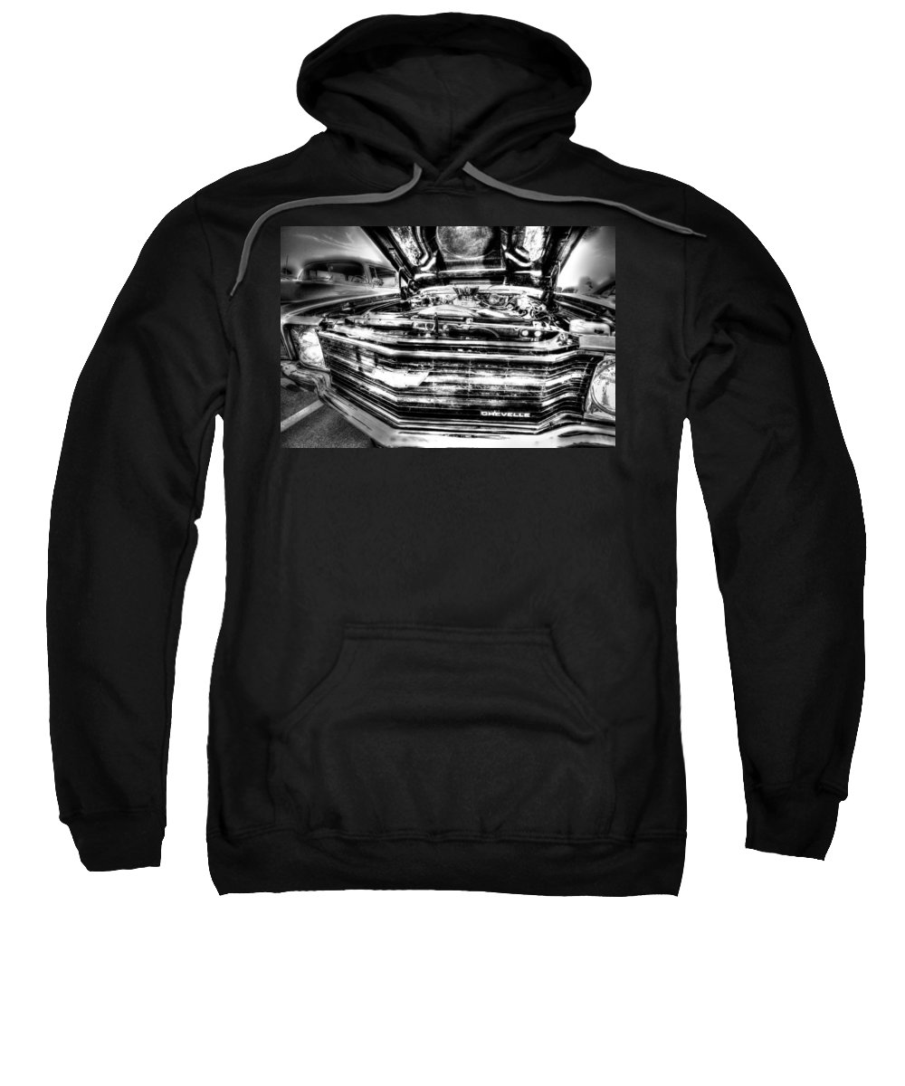 Chevell Sweatshirt featuring the photograph Chevelle - Black And White by David Morefield