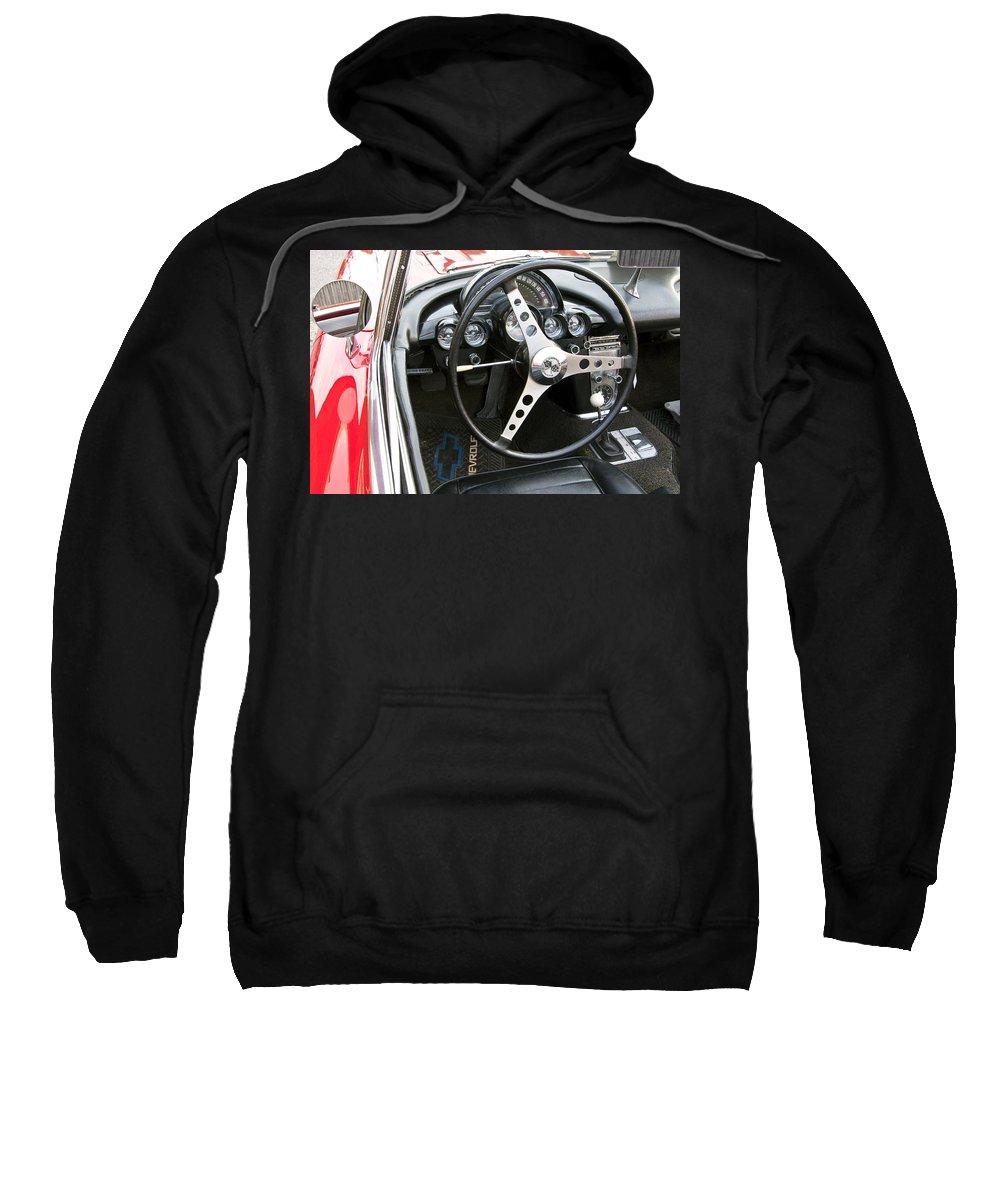 Chevy Sweatshirt featuring the photograph Chevy Corvette by Glenn Gordon