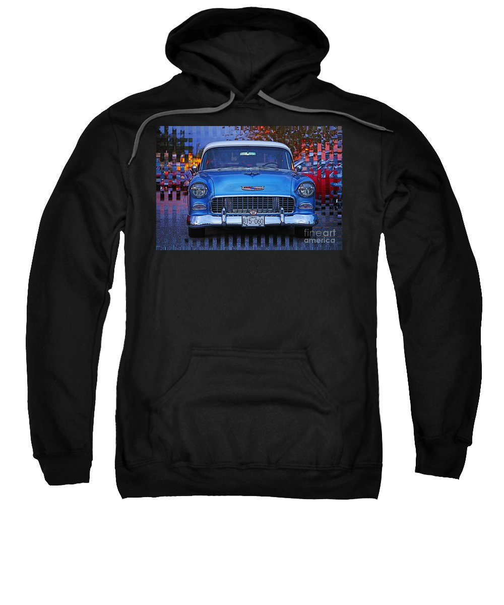 Cars Sweatshirt featuring the photograph Chevy Front End by Randy Harris