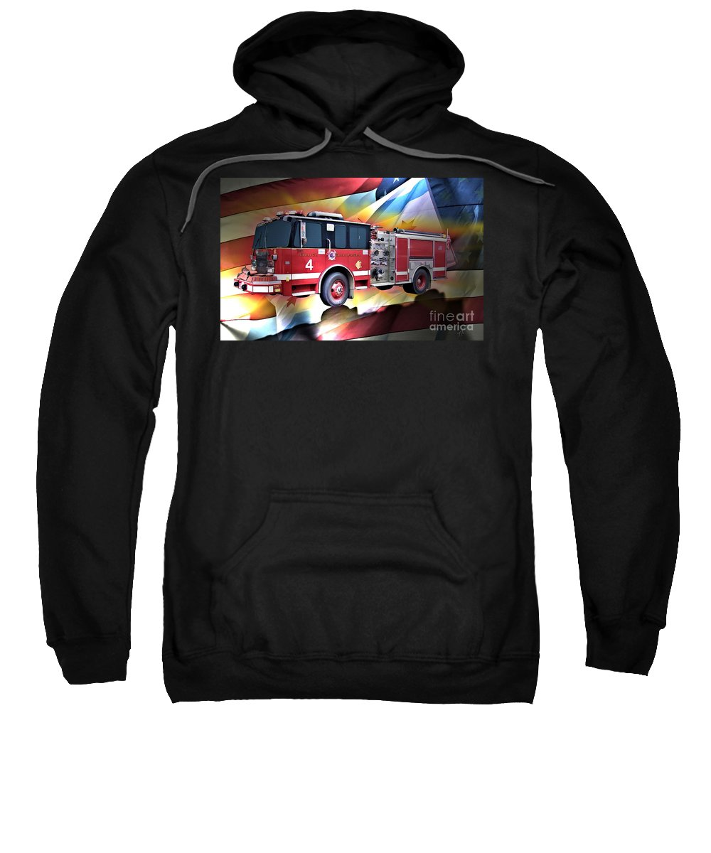 Chicago Sweatshirt featuring the digital art Chicago Eng 4 by Tommy Anderson
