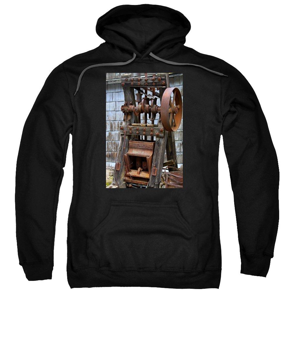Chicago Sweatshirt featuring the photograph Chicago Iron Works by Karon Melillo DeVega