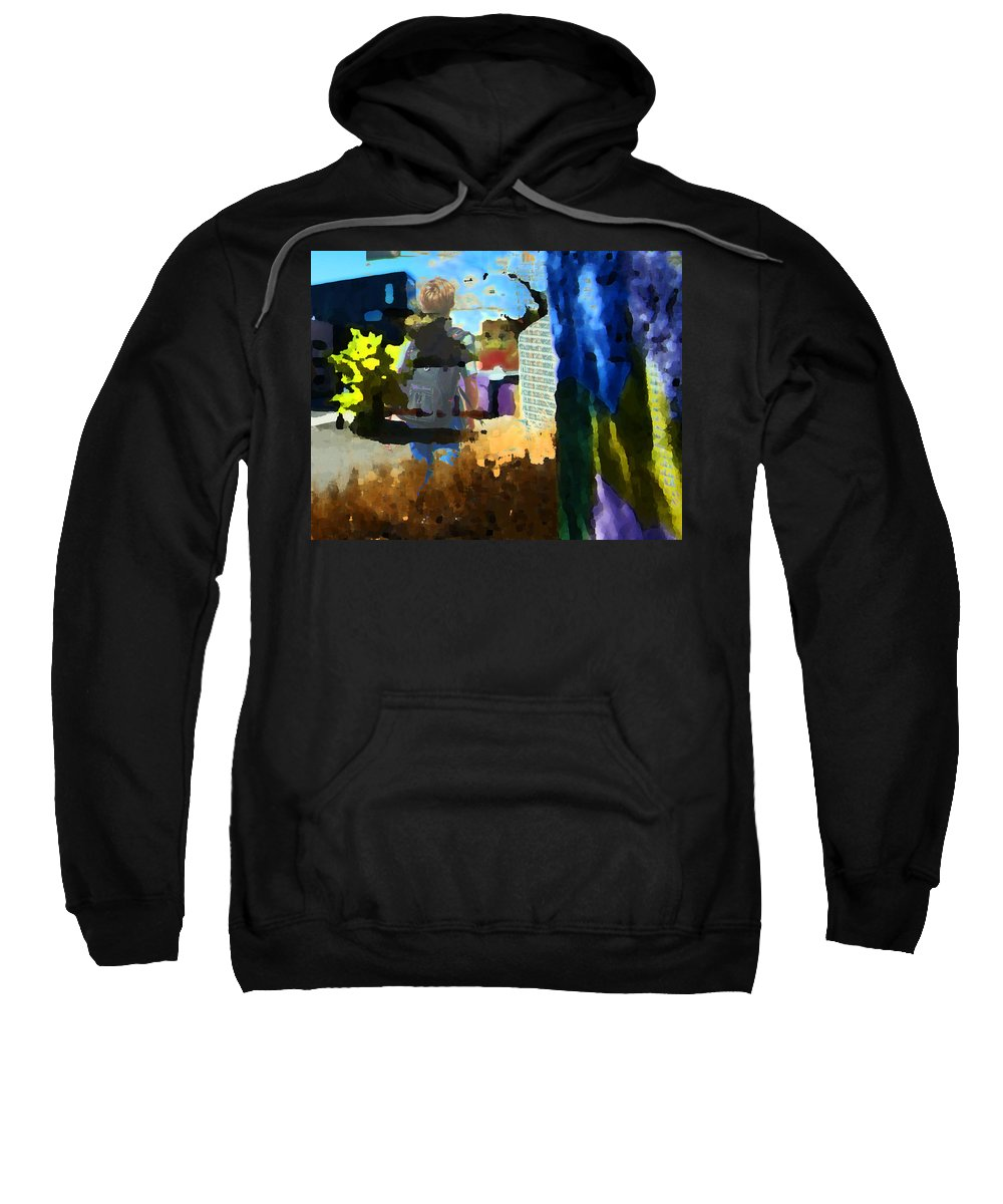Abstract Sweatshirt featuring the photograph Childhood Of A Boy by Lenore Senior