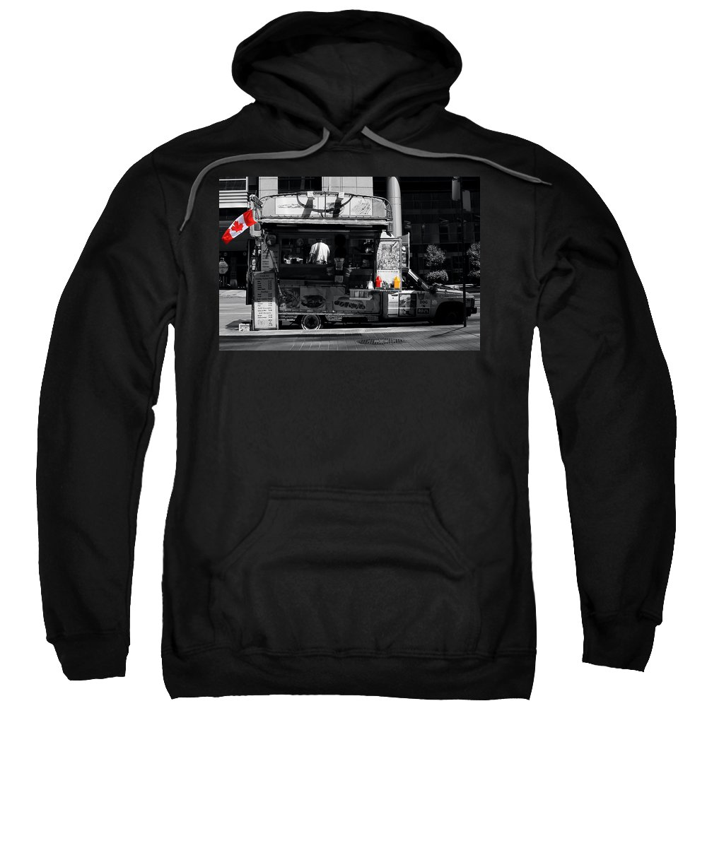Chips Sweatshirt featuring the photograph Chip Wagon by Andrew Fare