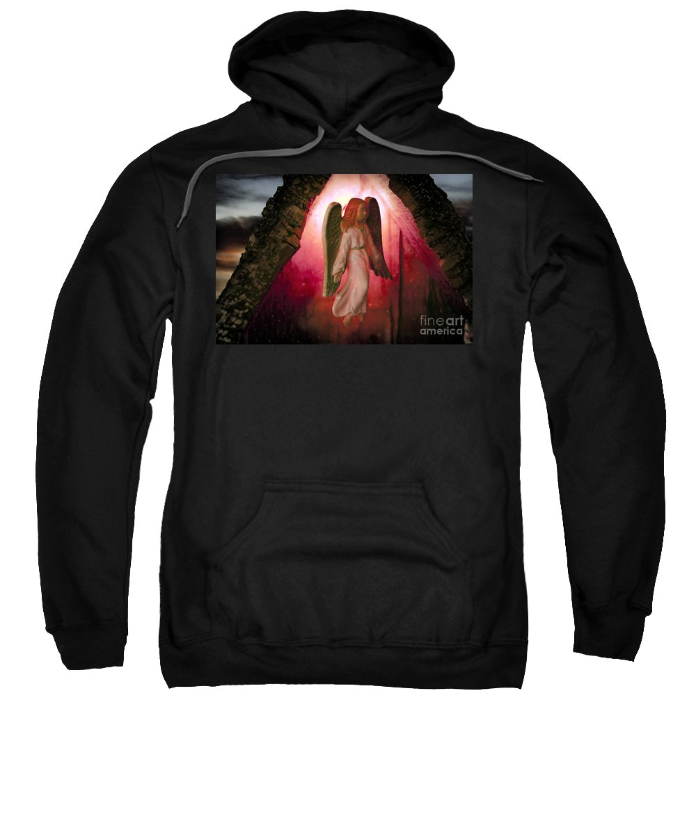Angel Sweatshirt featuring the photograph Christmas Angel by David Arment
