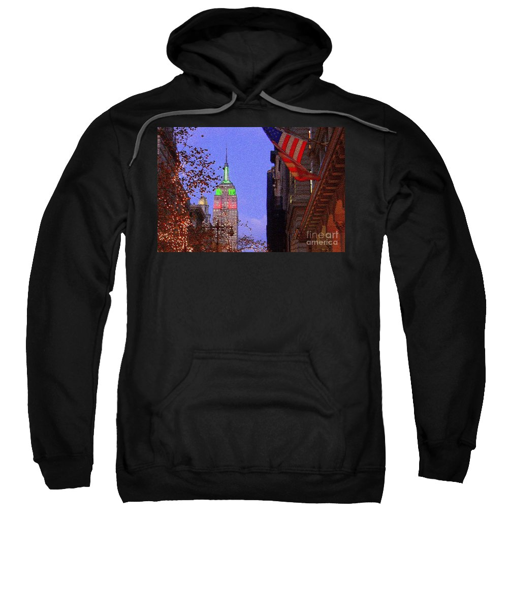 Nyc Sweatshirt featuring the photograph Christmas In New York by Mark Gilman