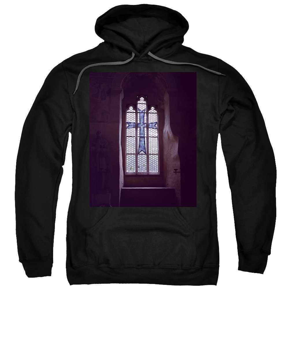 Ancient Sweatshirt featuring the photograph Church Stained Glass Window 2 by John Bowers
