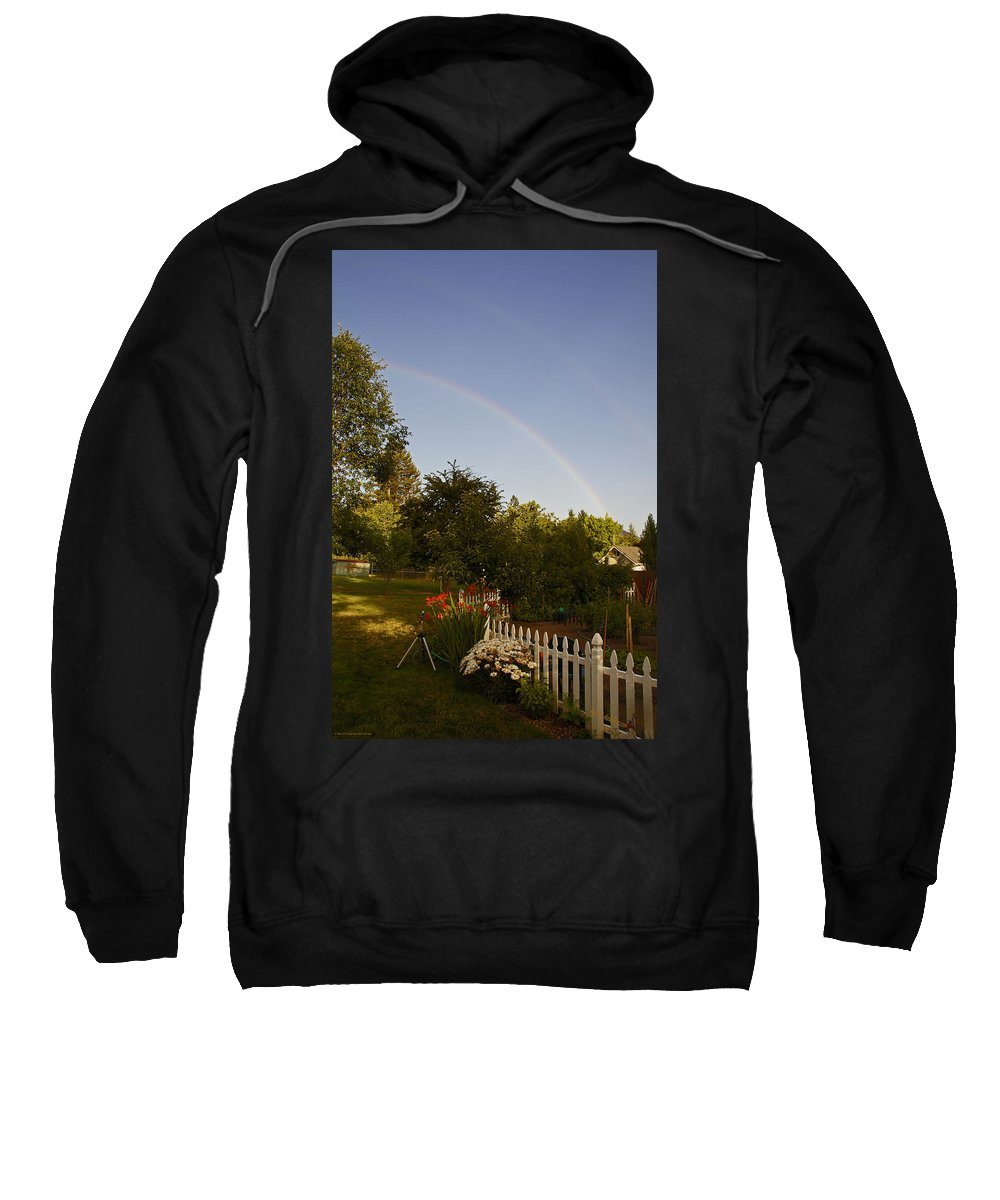Clear Sweatshirt featuring the photograph Clear Sky Rainbow by Mick Anderson