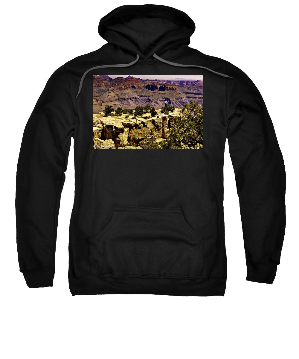 Grand Canyon Painting Sweatshirt featuring the photograph Climbing The Grand Canyon by Bob and Nadine Johnston