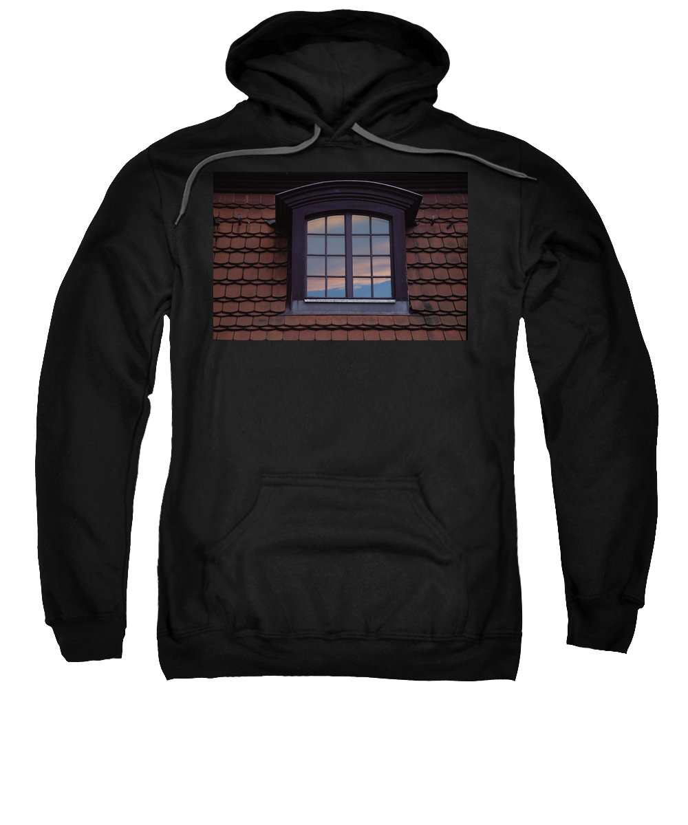 Window Sweatshirt featuring the photograph Cloud Reflections by Brent L Ander