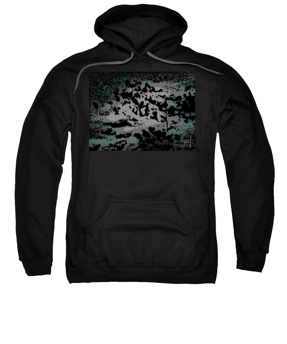 Abstract Sweatshirt featuring the digital art Clouded Thought by George Pedro