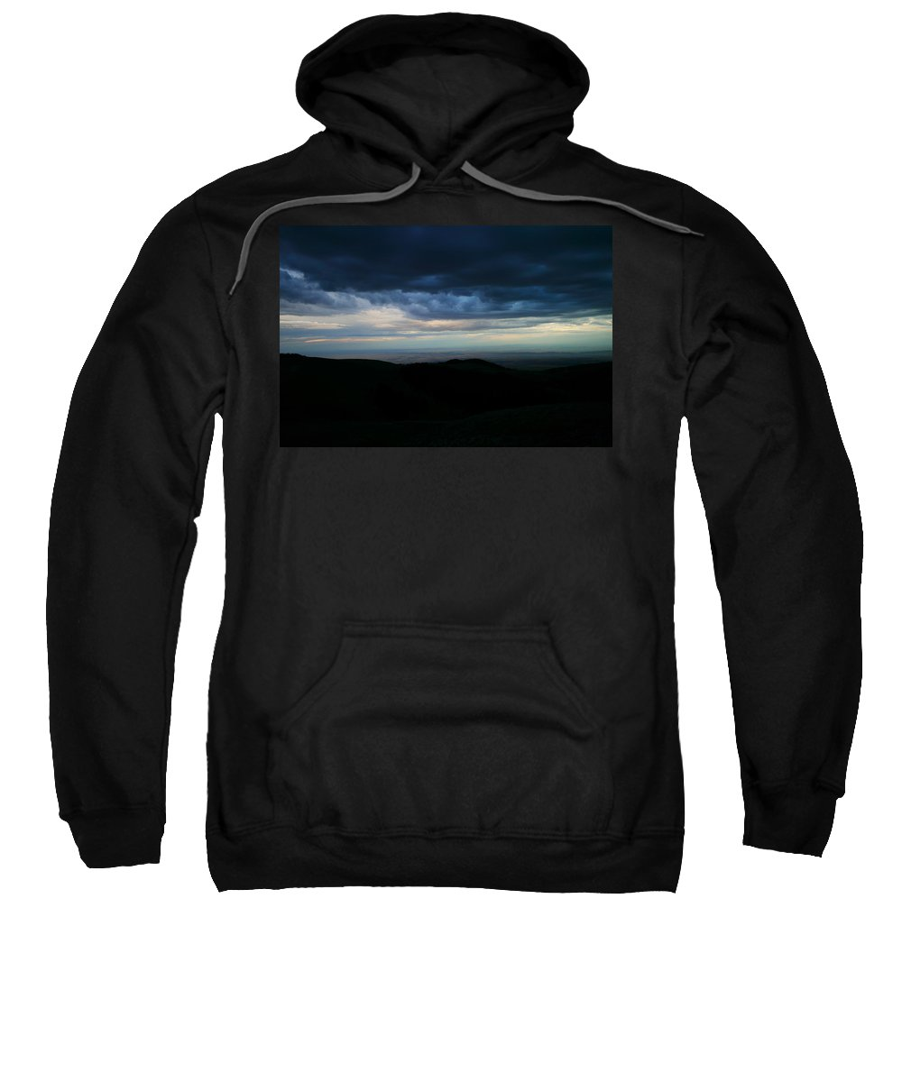 Landscape Sweatshirt featuring the photograph Clouds Over The Bitteroots by Jeff Swan