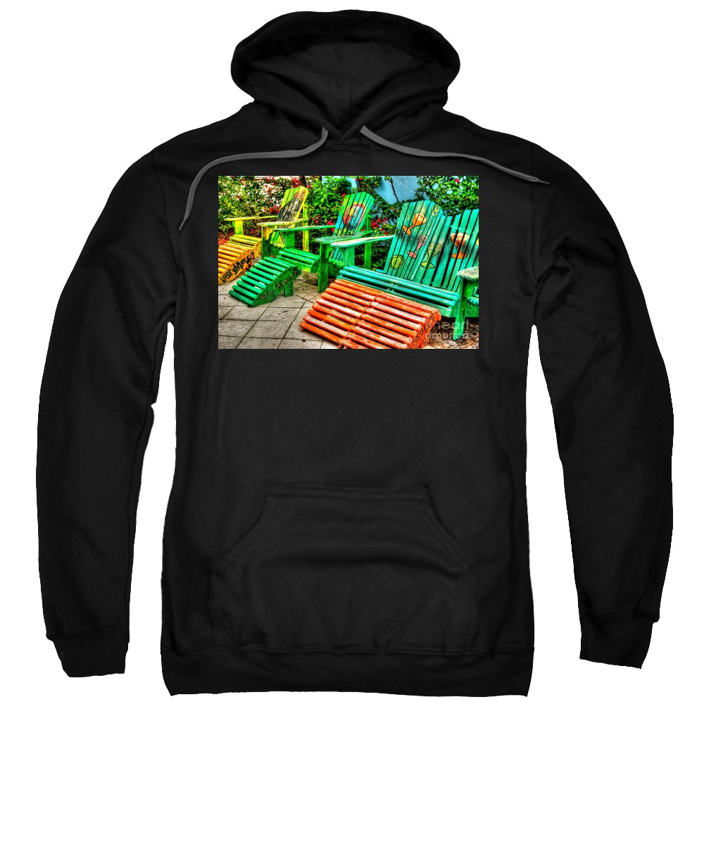 Chair Sweatshirt featuring the photograph Cocktails Anyone by Debbi Granruth