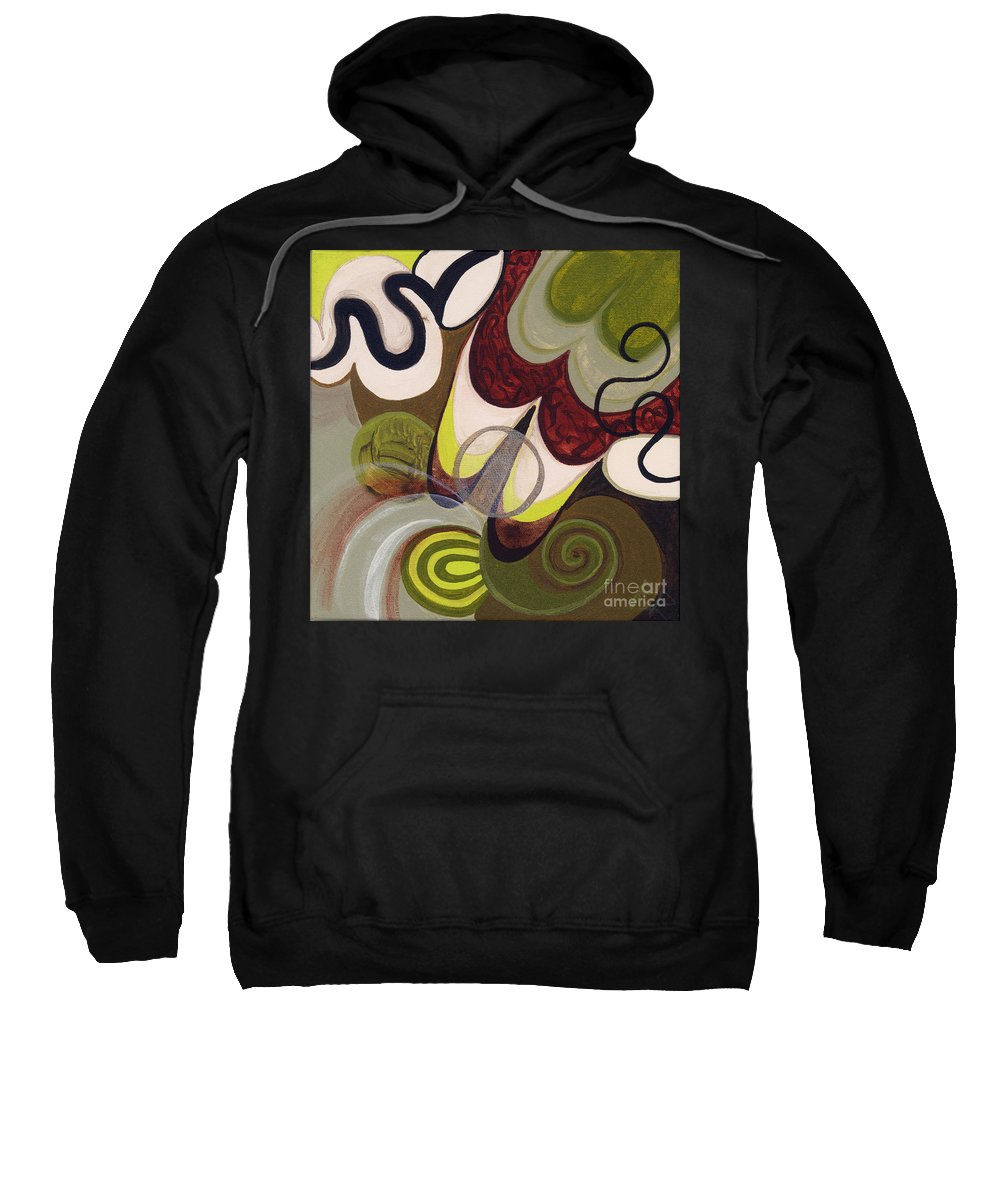 Colorful Sweatshirt featuring the painting Coffee Shop by Beth Fowler