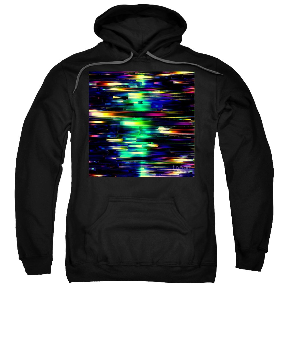 Abstract Sweatshirt featuring the digital art Color Of Speed by Greg Moores