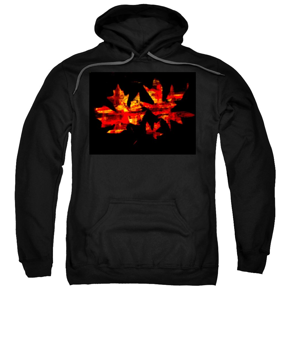 Sweatshirt featuring the photograph Colorful Fall Leaves by Kathy Sampson