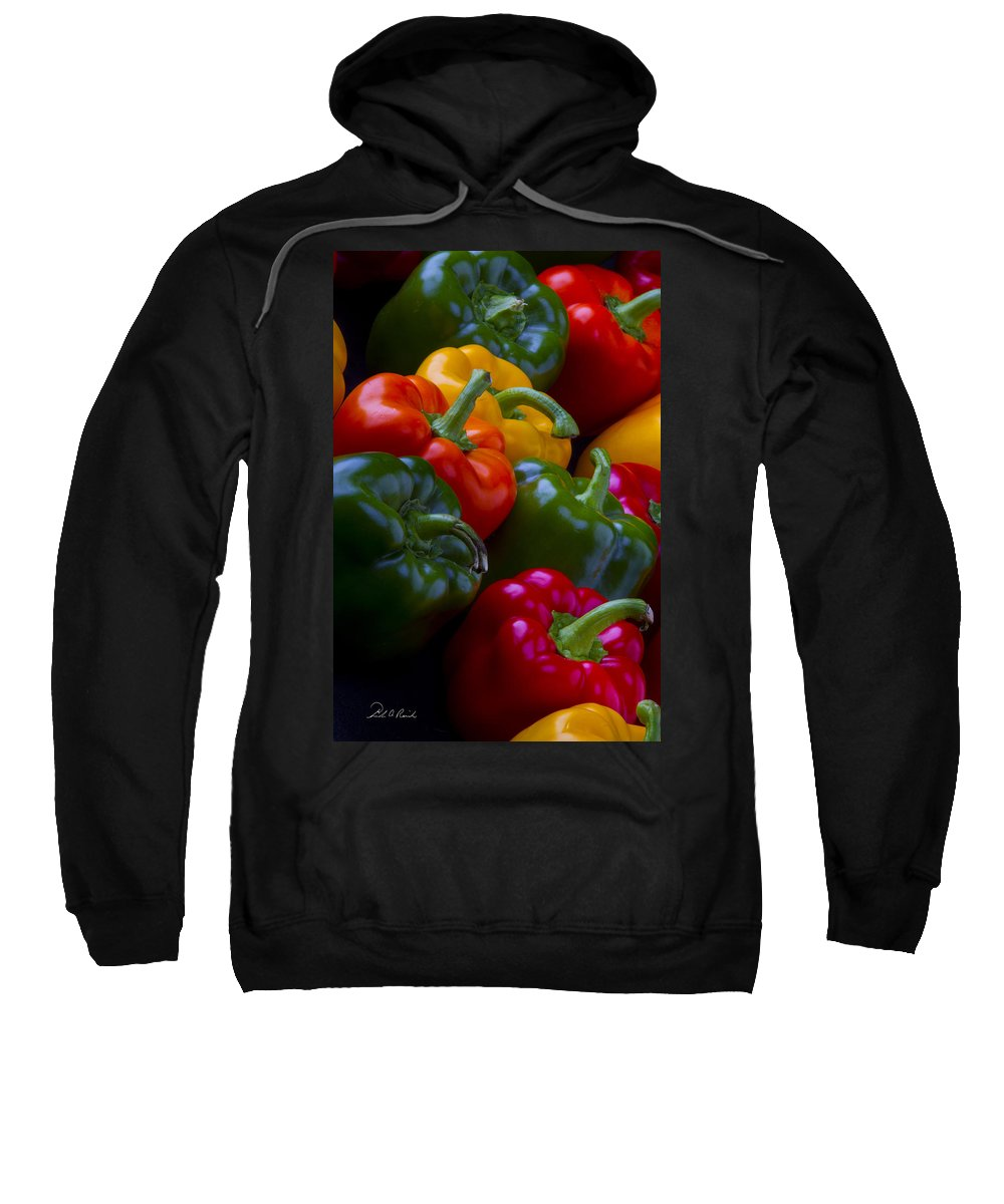 Fine Art Sweatshirt featuring the photograph Colorful Peppers by Frederic A Reinecke