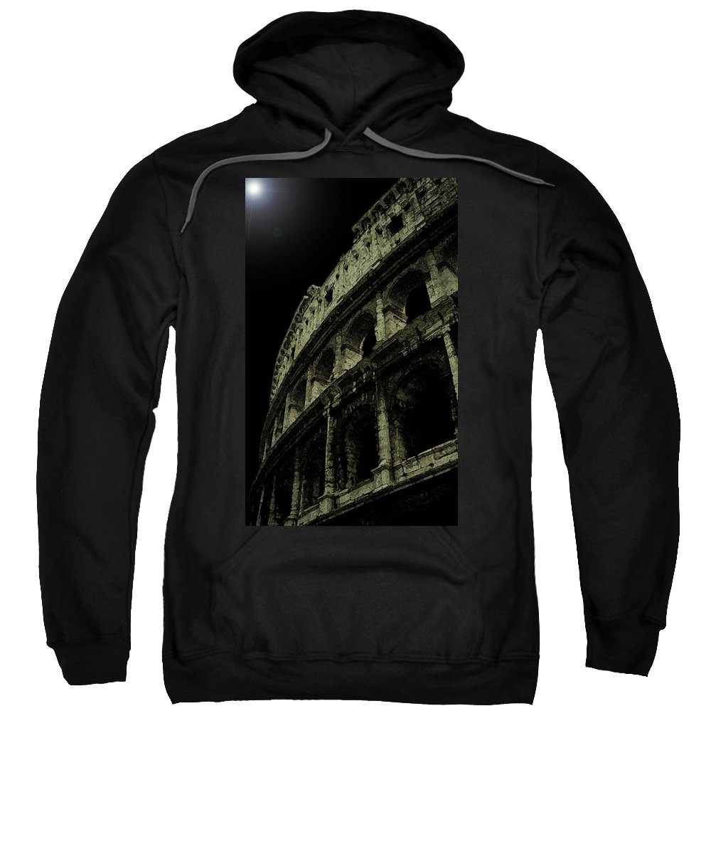 Colosseum Sweatshirt featuring the photograph Colosseum by Sumi Martin