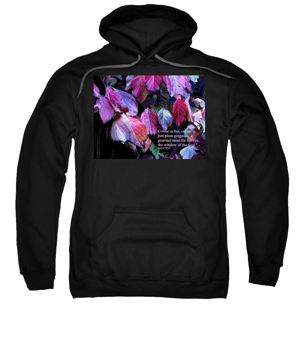 Leaves Sweatshirt featuring the photograph Colour Is Fun by Ian MacDonald