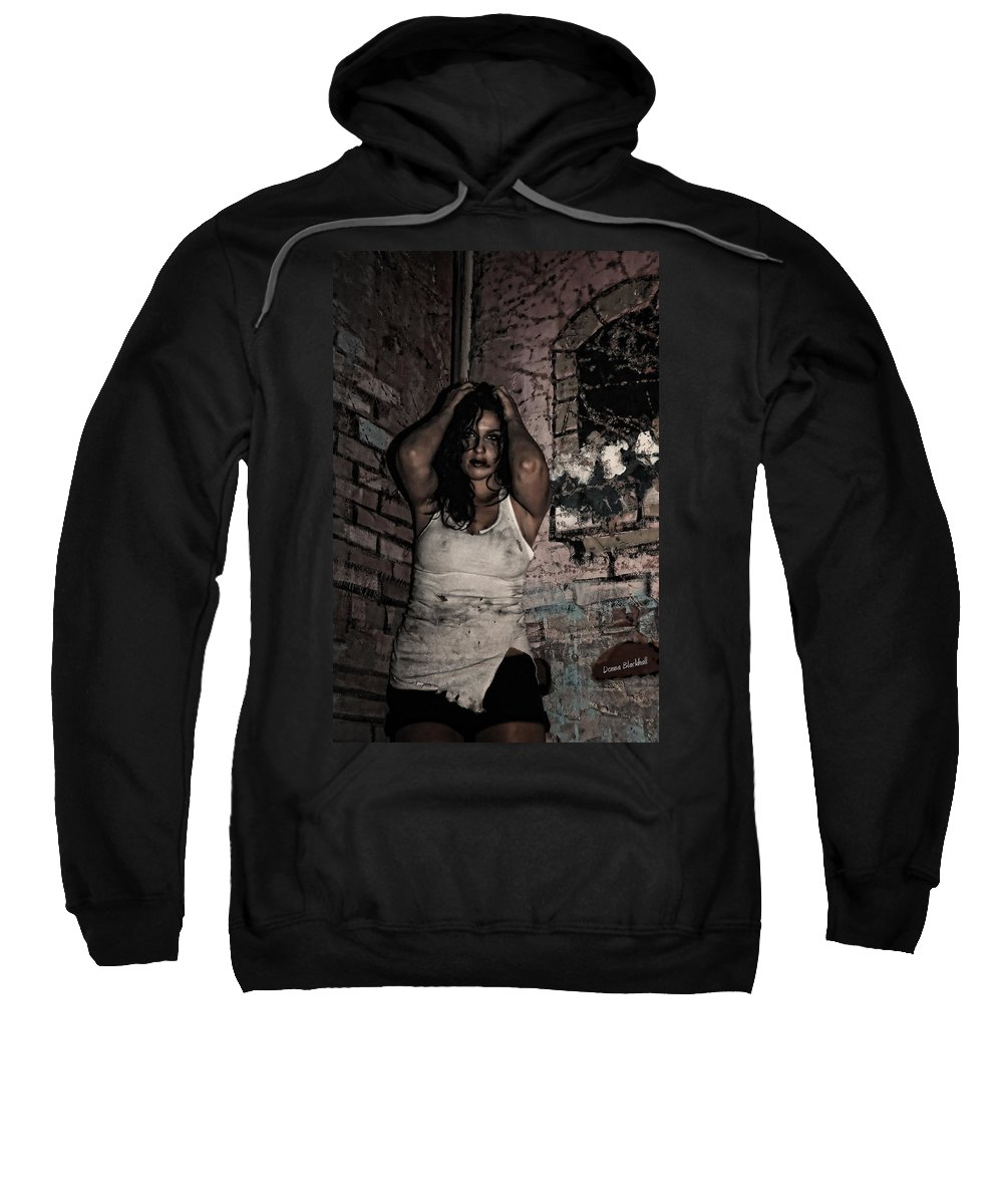 Woman Sweatshirt featuring the photograph Concrete Velvet 37 by Donna Blackhall