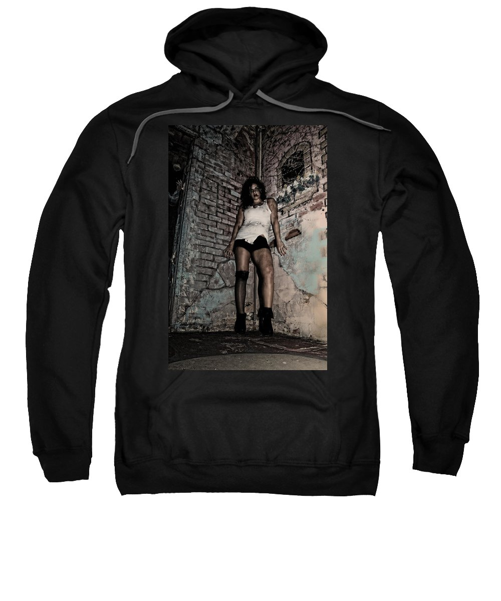 Woman Sweatshirt featuring the photograph Concrete Velvet 38 by Donna Blackhall