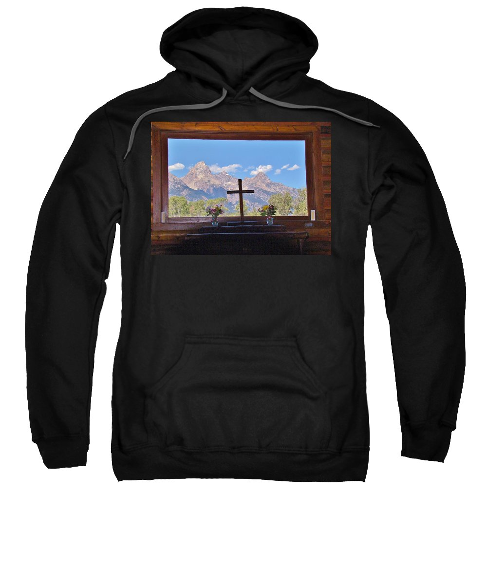 Mountains Sweatshirt featuring the photograph Connie's View by Michael MacGregor