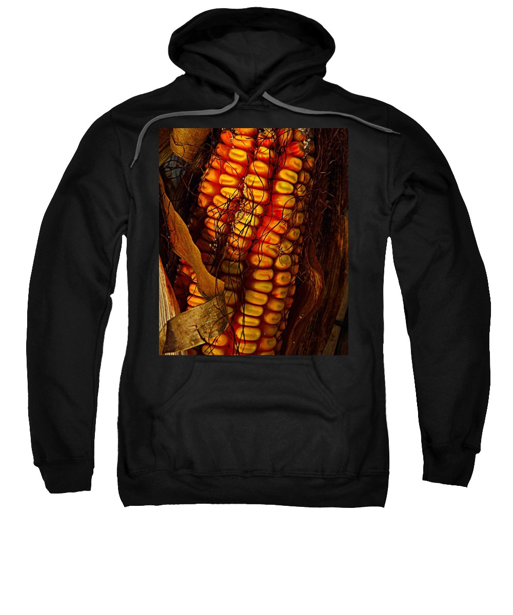 Nature Sweatshirt featuring the photograph Corn by Chris Berry