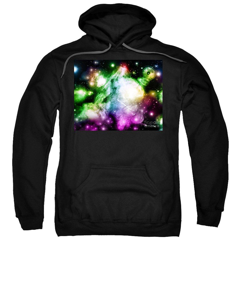 Sweatshirt featuring the digital art Cos 12 by Taylor Webb