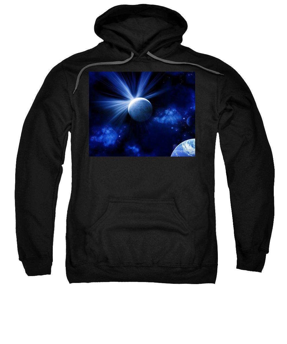 Sweatshirt featuring the digital art Cos 22 by Taylor Webb