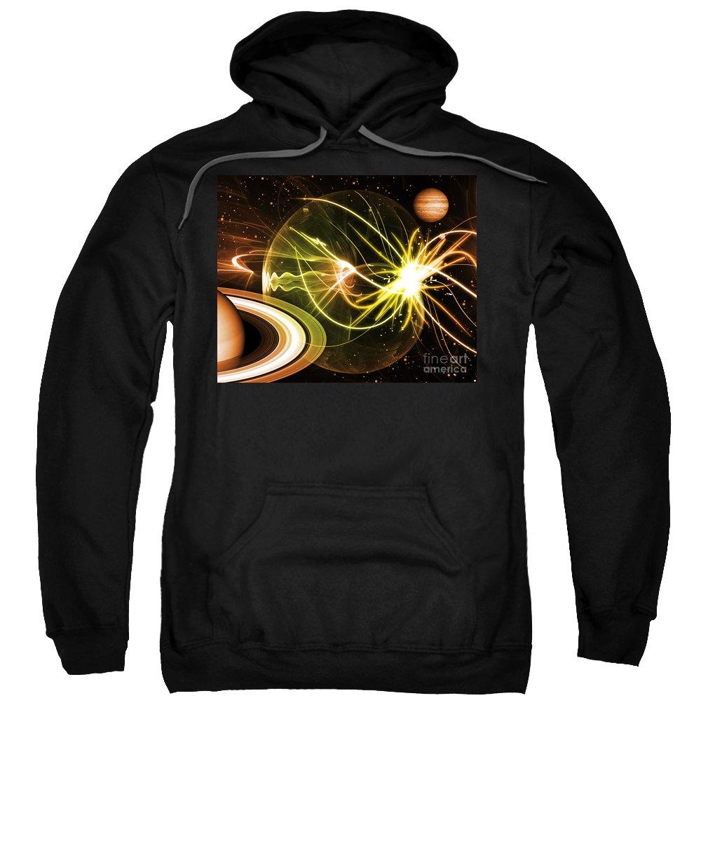 Sweatshirt featuring the digital art Cos 27 by Taylor Webb