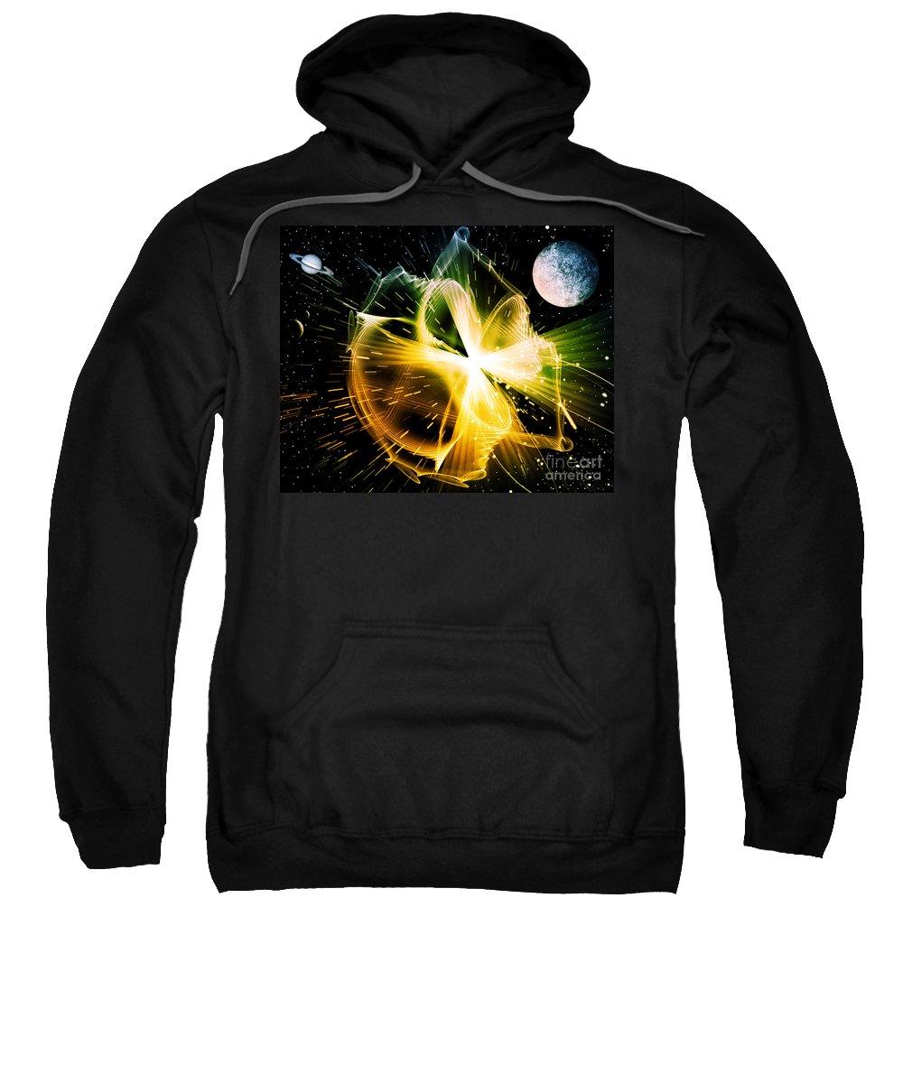 Sweatshirt featuring the digital art Cos 29 by Taylor Webb
