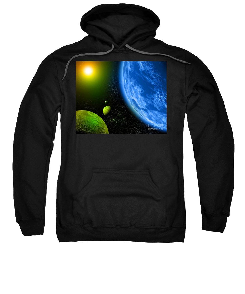 Sweatshirt featuring the digital art Cos 6 by Taylor Webb