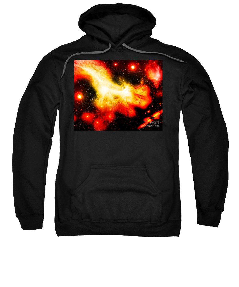Sweatshirt featuring the digital art Cos 9 by Taylor Webb