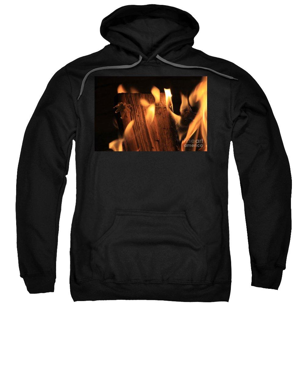 Fire Sweatshirt featuring the photograph Cosmic Fire by Dana Kern