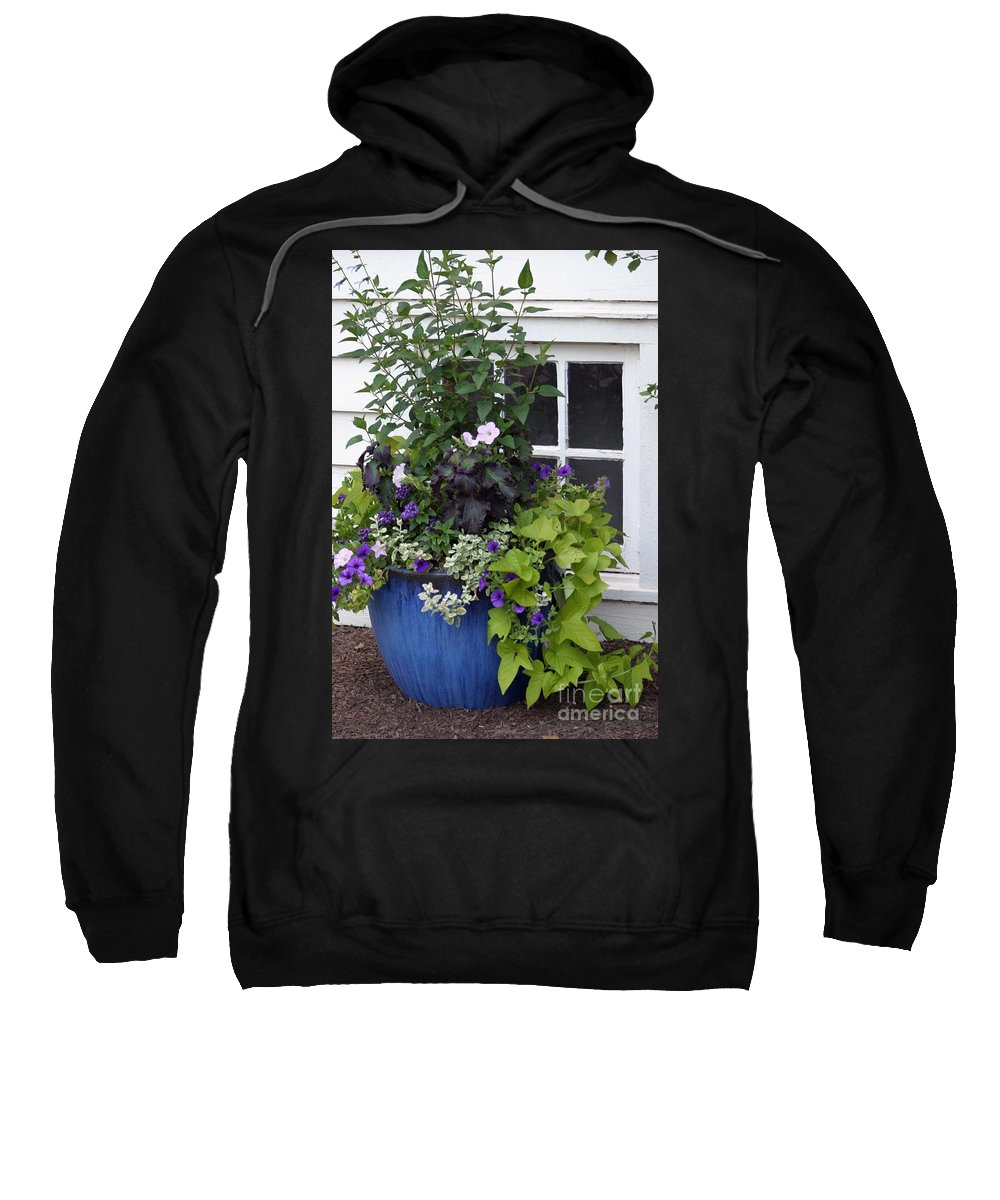 Window Sweatshirt featuring the photograph Cottage Window by Living Color Photography Lorraine Lynch